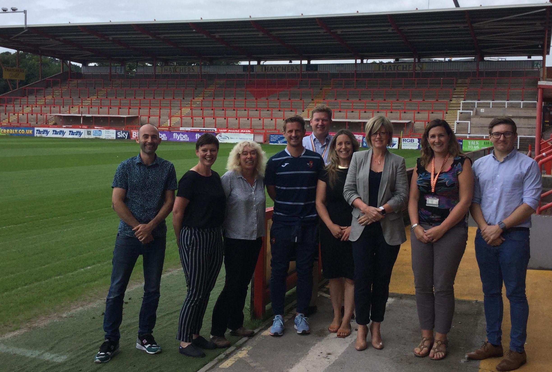 'Football Onside' team with Rachel Fenton