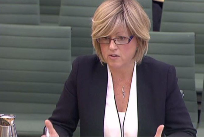 Rachel Fenton giving evidence at select committee 2018