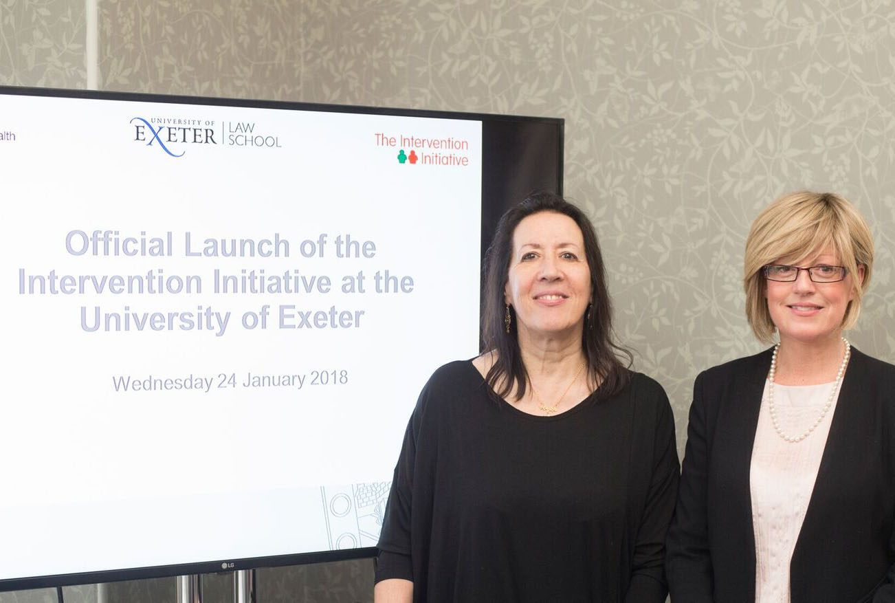 Launch of The Intervention Initiative with Provost Prof Janice Kay
